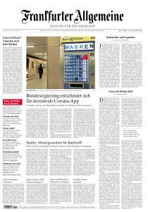 Frankfurter Allgemeine Zeitung - 27 April 2020