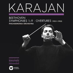 Herbert von Karajan, Philharmonia Orchestra - Beethoven: Symphonies Nos. 1-9 & Overtures (2014) (6 CDs Box Set)