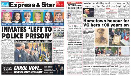Express and Star Sandwell Edition – August 27, 2018