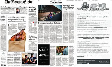 The Boston Globe – November 20, 2018