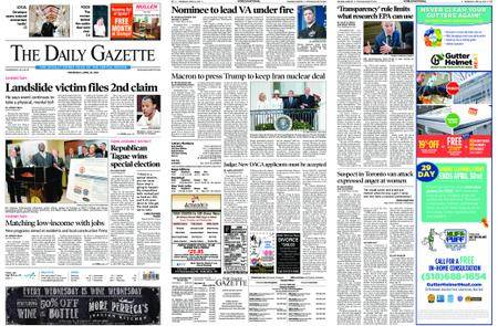 The Daily Gazette – April 25, 2018