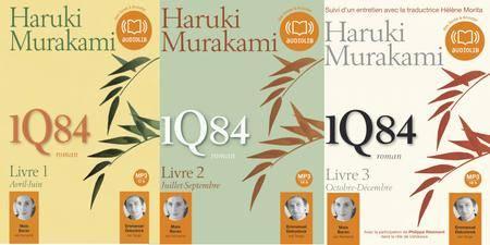 "Haruki Murakami, ""1Q84"", Coffret 6 livres audio MP3 regroupant les 3 volumes"