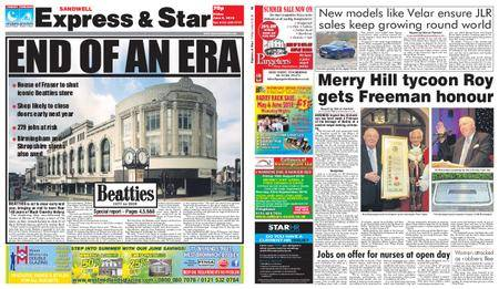 Express and Star Sandwell Edition – June 08, 2018