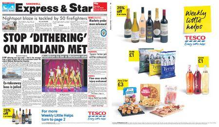 Express and Star Sandwell Edition – May 17, 2018
