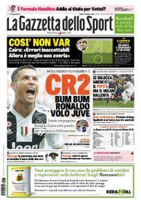 La Gazzetta dello Sport – 17 settembre 2018