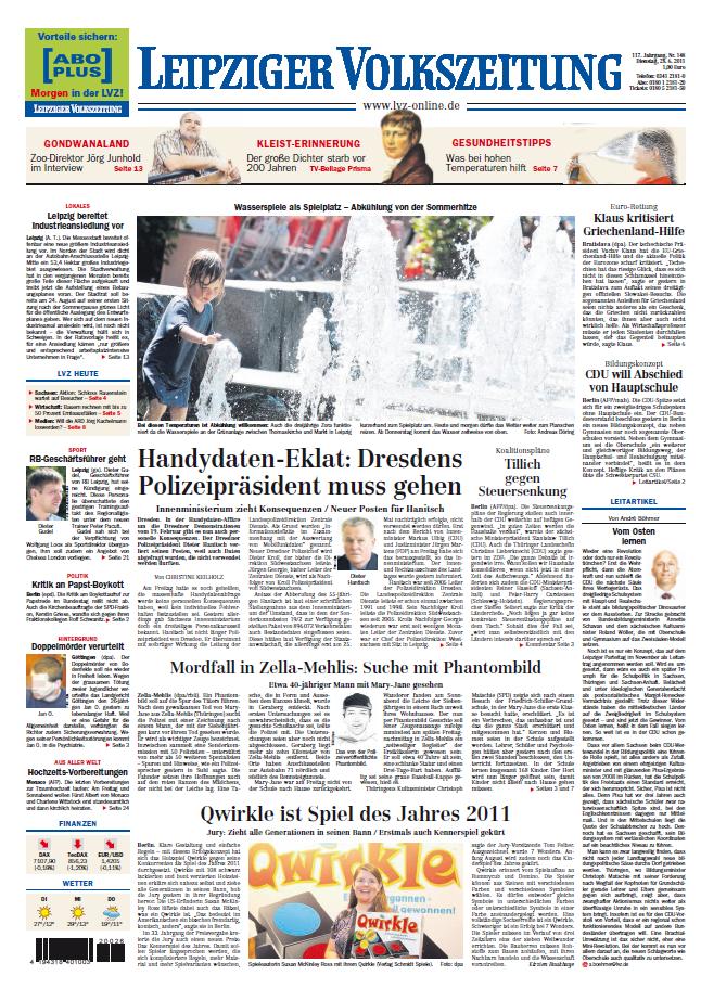 Leipziger Volkszeitung 28 06 2011