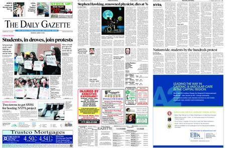 The Daily Gazette – March 15, 2018