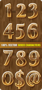 Stock Vector - Wood Characters