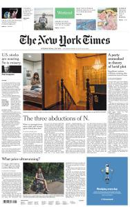 International New York Times - 22-23 August 2020