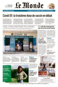 Le Monde du Mercredi 4 Août 2021