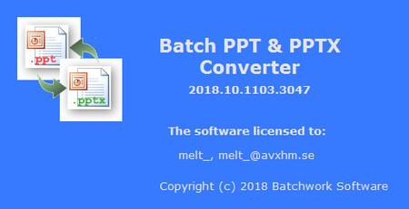 Batch PPT and PPTX Converter 2019.11.504.3119