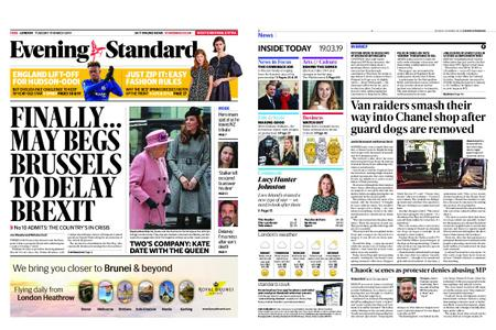 London Evening Standard – March 19, 2019