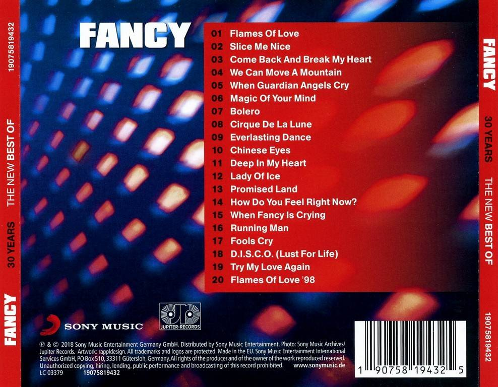 Fancy - 30 Years: The New Best Of Fancy (2018)