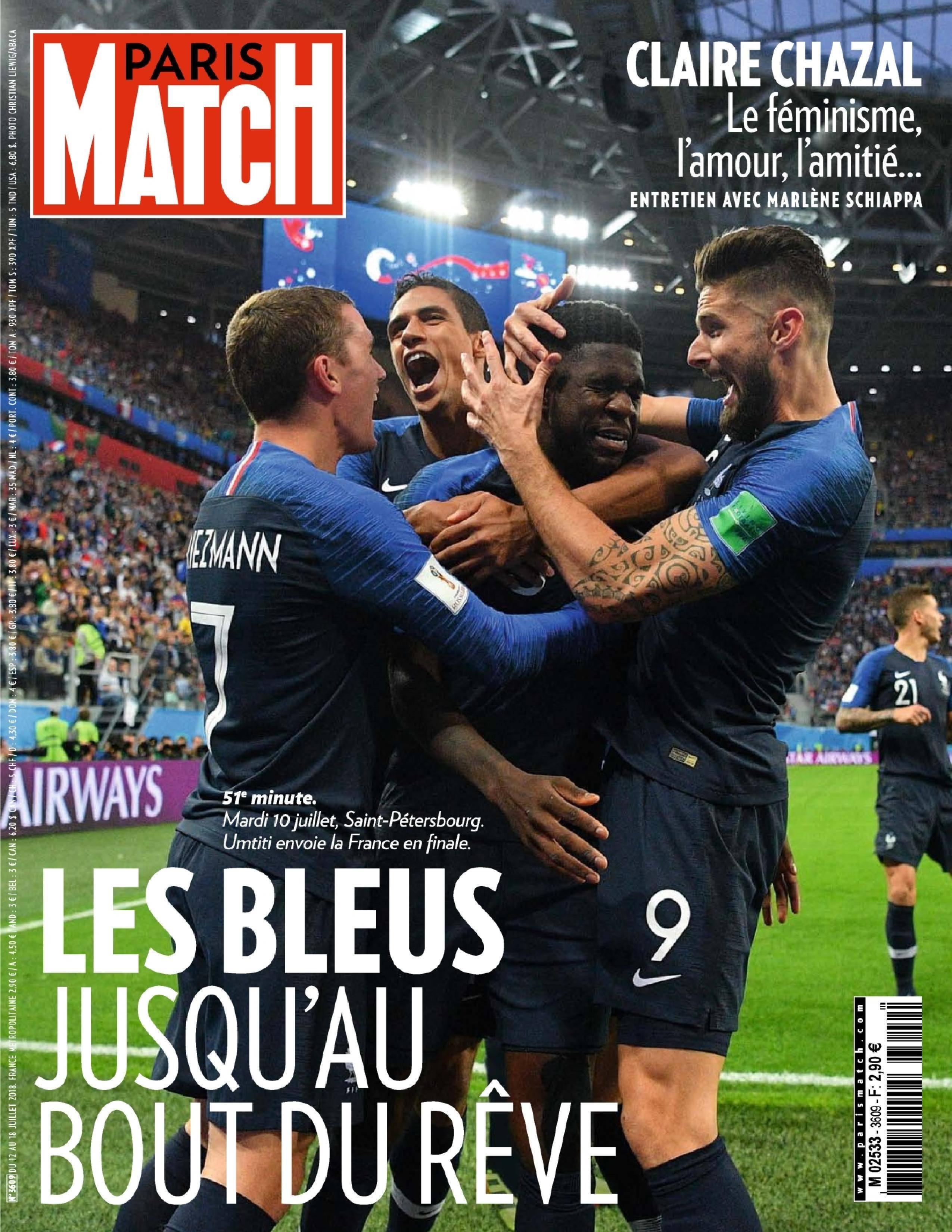 Paris Match - 12 juillet 2018