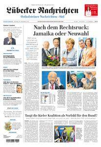 Lübecker Nachrichten Ostholstein Süd - 26. September 2017