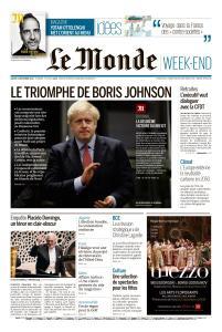 Le Monde du Samedi 14 Décembre 2019