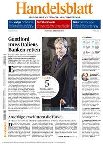 Handelsblatt - 12. Dezember 2016