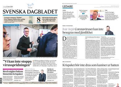Svenska Dagbladet – 17 mars 2020