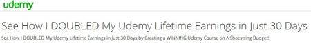 See How I DOUBLED My Udemy Lifetime Earnings in Just 30 Days