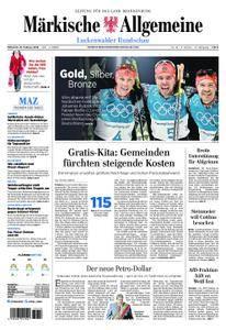 Märkische Allgemeine Luckenwalder Rundschau - 21. Februar 2018
