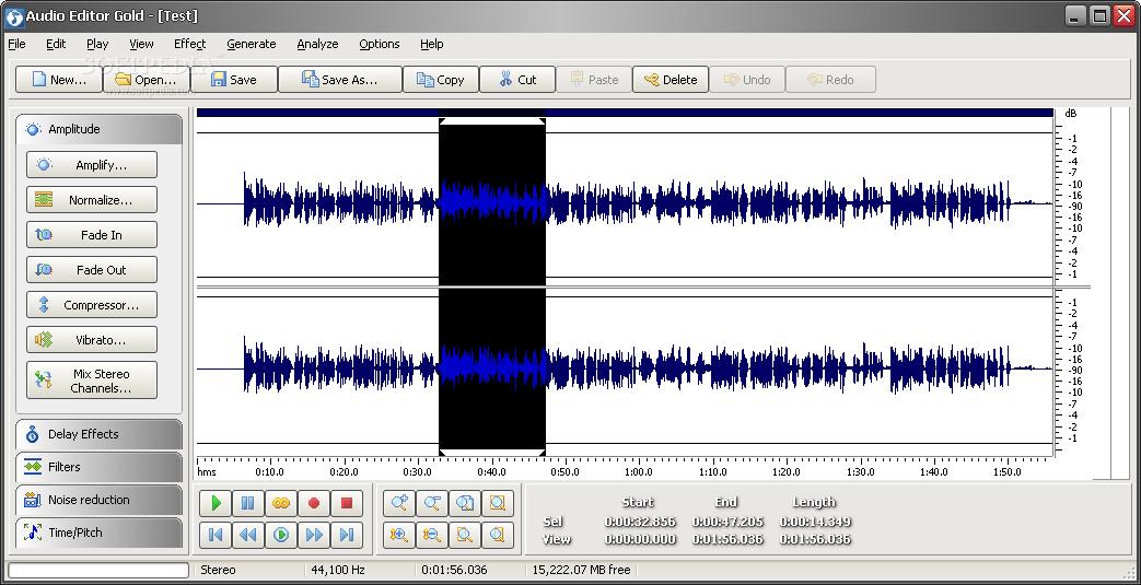 Audio Editor Gold 9.2.10.521