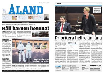 Ålandstidningen – 27 mars 2020