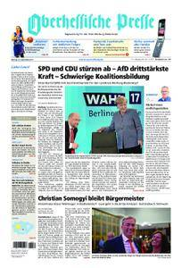 Oberhessische Presse Marburg/Ostkreis - 25. September 2017