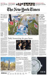 International New York Times - 9 November 2018