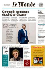 Le Monde du Dimanche 21 et Lundi 22 Octobre 2018