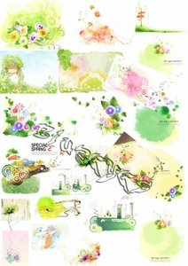 PSD Water Colour Drawings