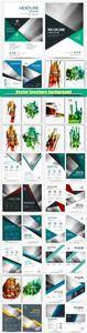 Vector brochure background, flyer abstract layout template