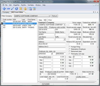 ZPAY Wage Filer for PayWindow 2.0.7