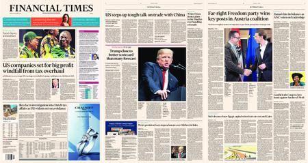 Financial Times Europe – 18 December 2017