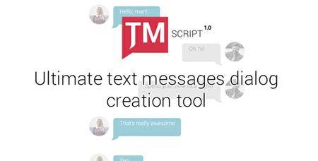 Text Messages Ultimate Kit - TMScript 1.01 - Project for After Effects (VideoHive)