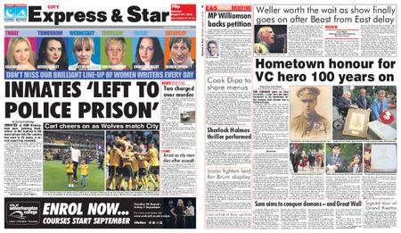 Express and Star City Edition – August 27, 2018