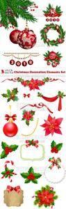 Vectors - Christmas Decoration Elements Set
