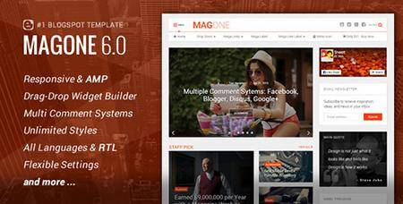 ThemeForest - MagOne v6.1.2 - Responsive News & Magazine Blogger Template - 12016203