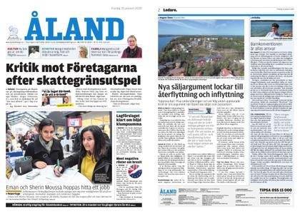 Ålandstidningen – 31 januari 2020