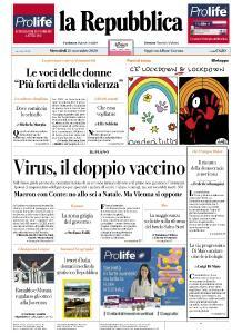 la Repubblica - 25 Novembre 2020