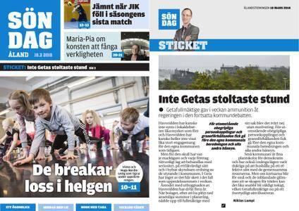 Ålandstidningen – 18 mars 2018