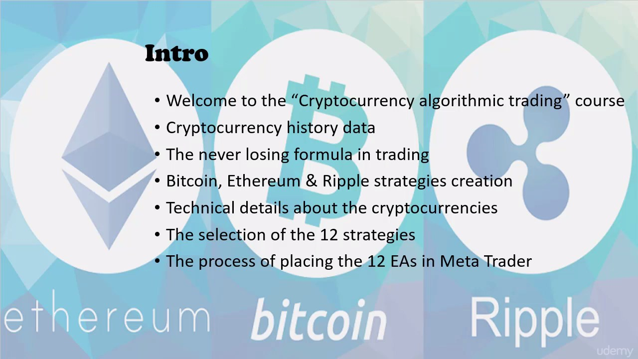 Algorithmic cryptocurrency trading the revolution