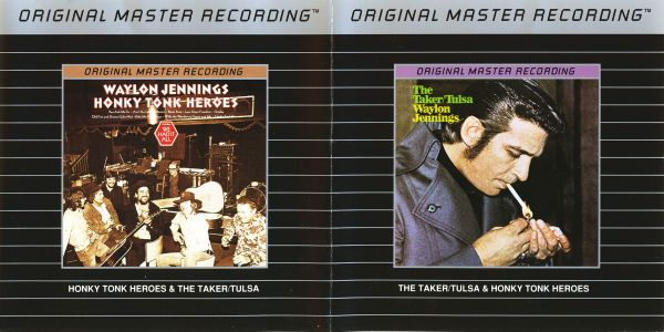 Waylon Jennings - The Taker / Tulsa (1971) + Honky Tonk Heroes (1973) [MFSL MFCD 779, 1990]   |re-up|