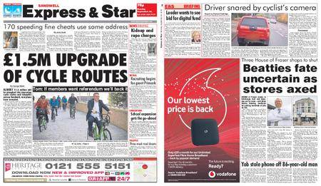Express and Star Sandwell Edition – September 24, 2018