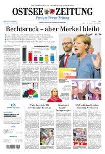 Ostsee Zeitung Wolgast - 25. September 2017