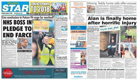 Shropshire Star Shrewsbury Edition – January 01, 2018