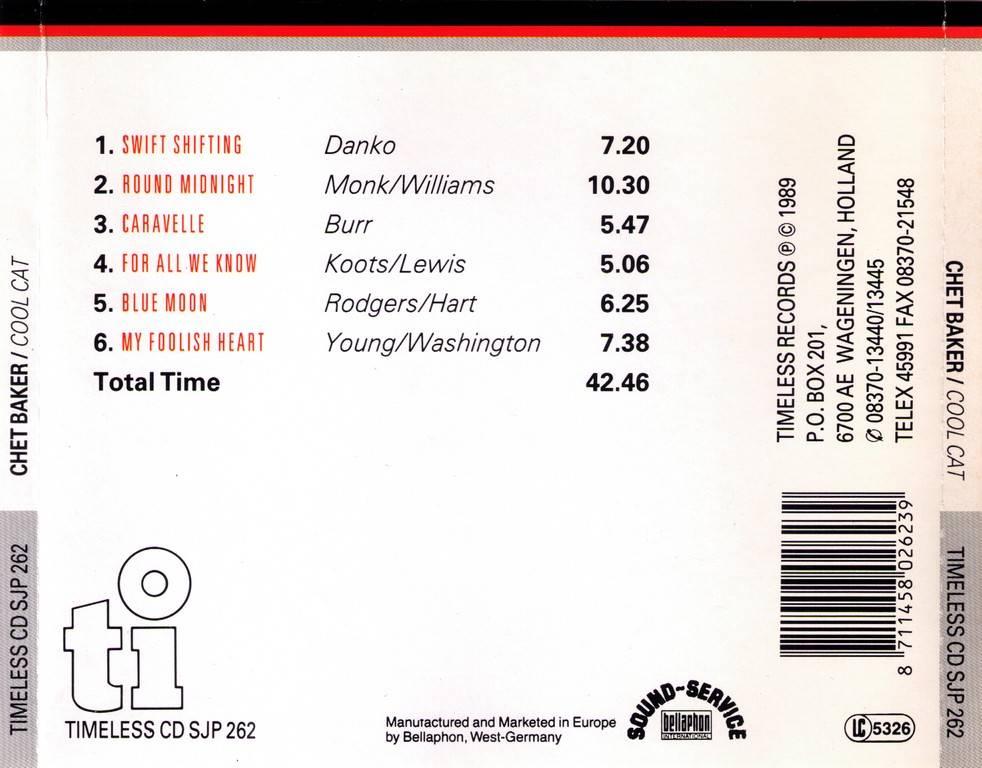 Chet Baker - Cool Cat (1989) / AvaxHome
