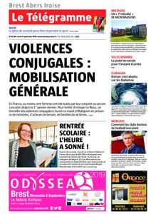 Le Télégramme Brest Abers Iroise – 02 septembre 2019
