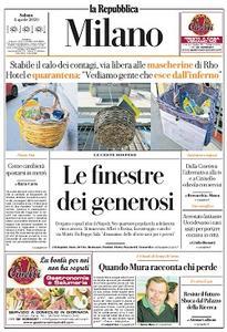 la Repubblica Milano - 4 Aprile 2020