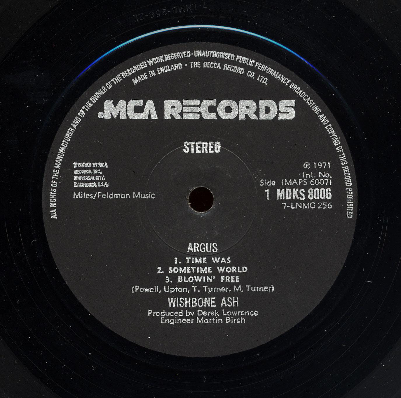 Wishbone Ash Argus Mca 1971 24 Bit 96khz Vinyl Rip