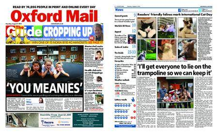 Oxford Mail – August 09, 2018